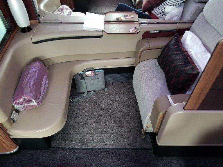 我的座位(從巴黎一路到曼谷,我都坐在這裡) 圖文來自於:TripPlus