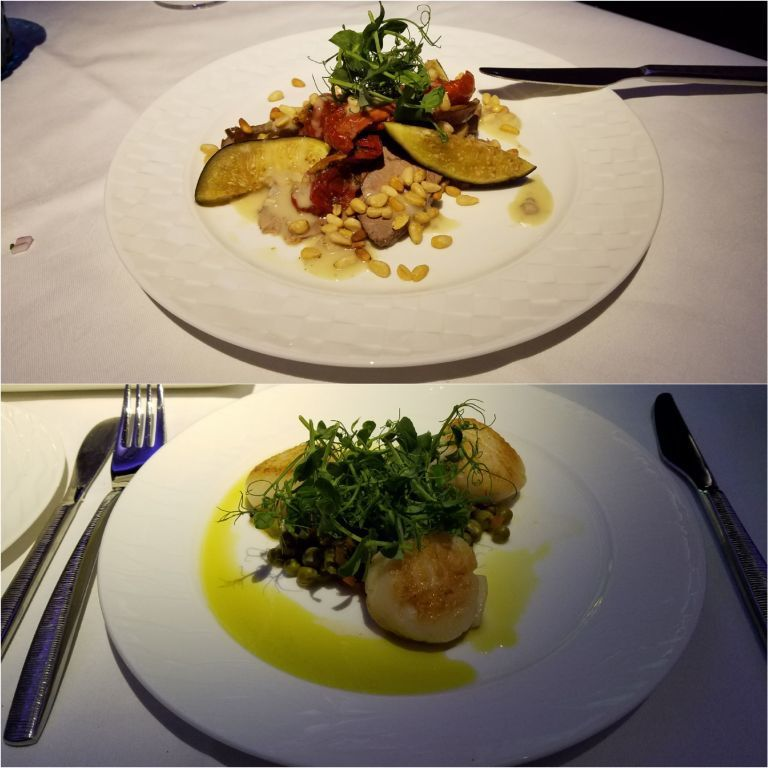 老婆大人點的鴨胸肉(上圖)以及我點的干貝開胃菜(下圖) 圖文來自於:TripPl...