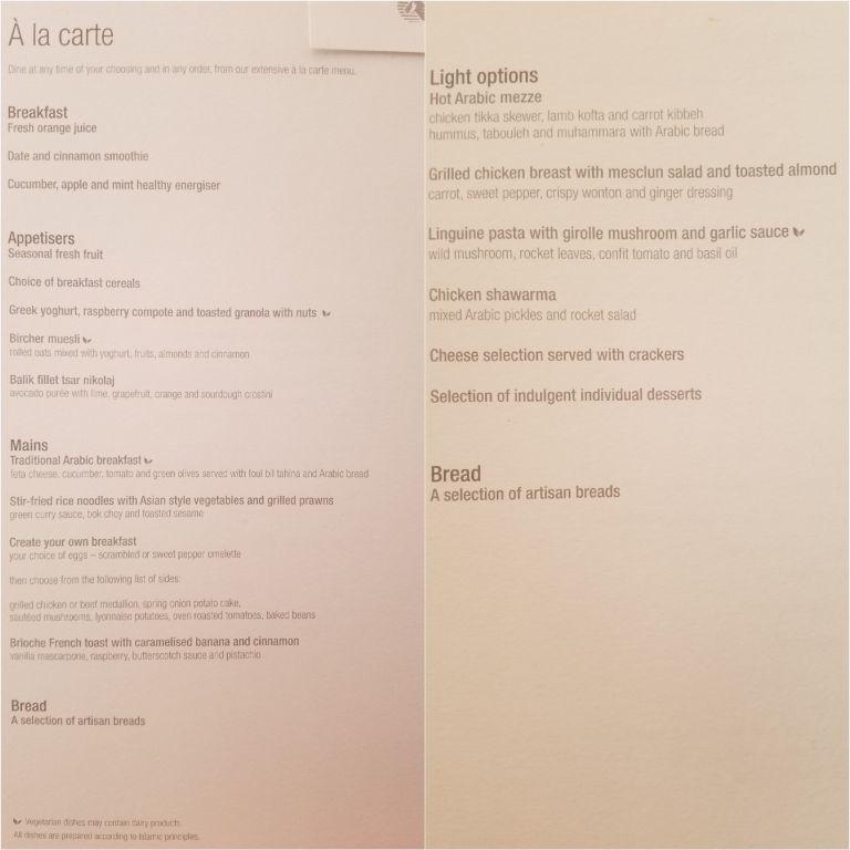 菜單內的餐點選擇 圖文來自於:TripPlus