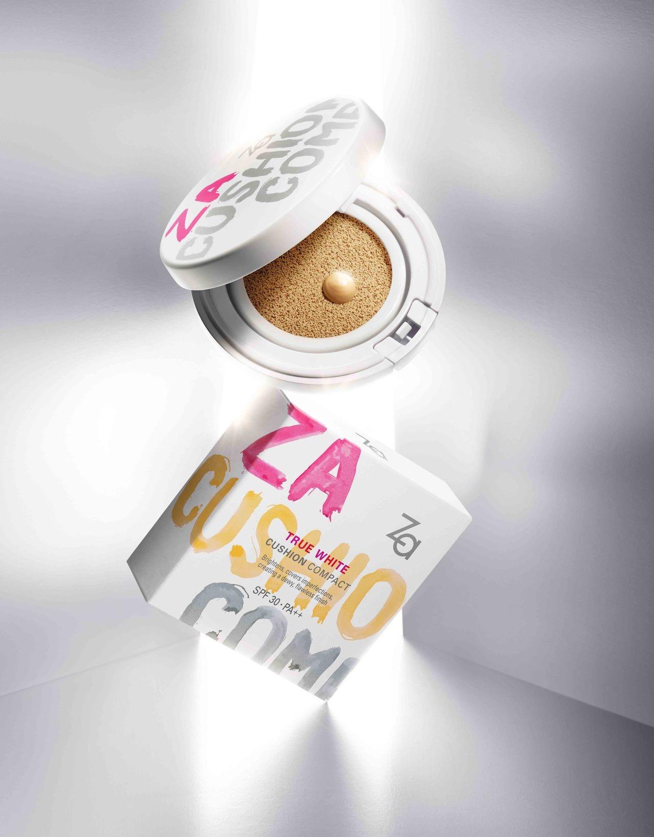 屈臣氏第4名:Za裸光亮白氣墊粉餅#明亮色,售價590元。圖/Za提供