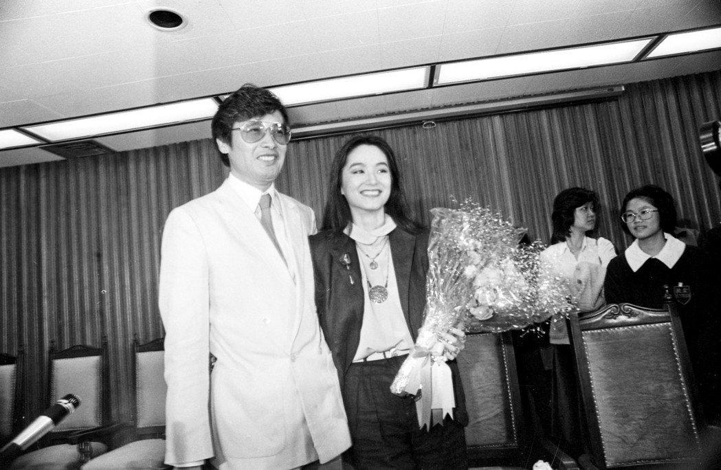 秦祥林與林青霞一度訂婚,成為娛樂圈大新聞。圖/報系資料照片
