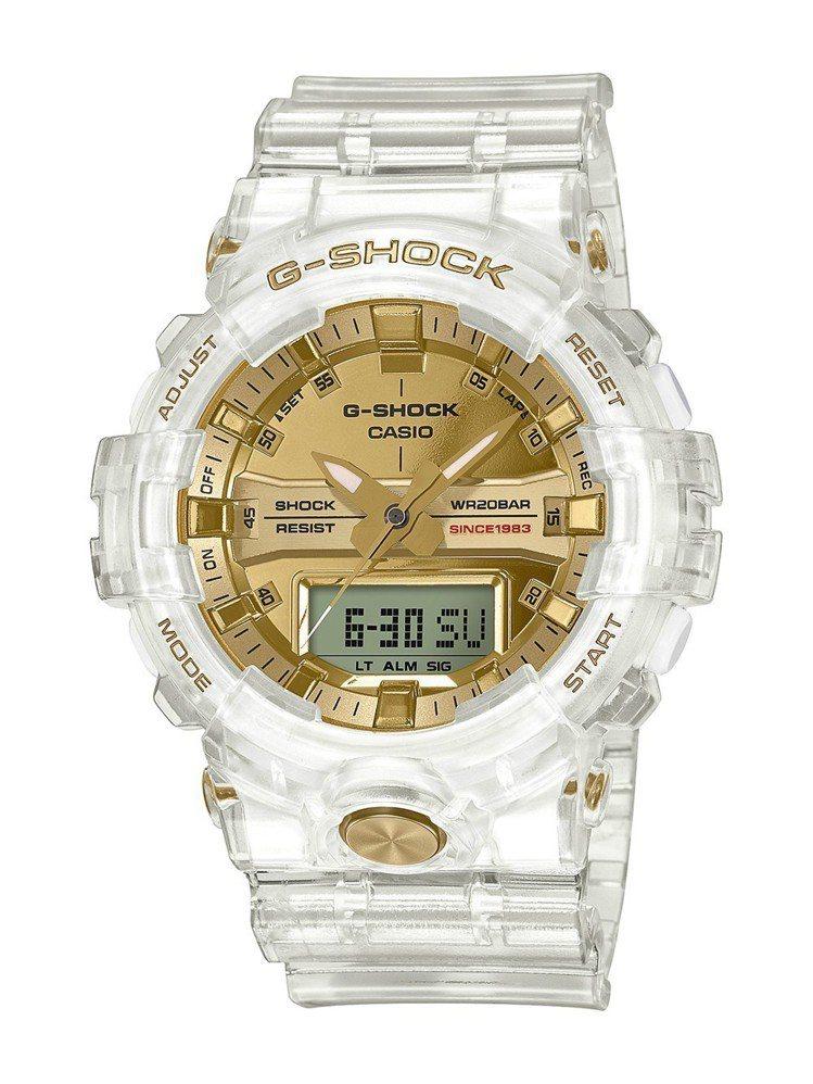 G-Shock將推出35周年限定Glacier Gold系列GA-835E表款,...