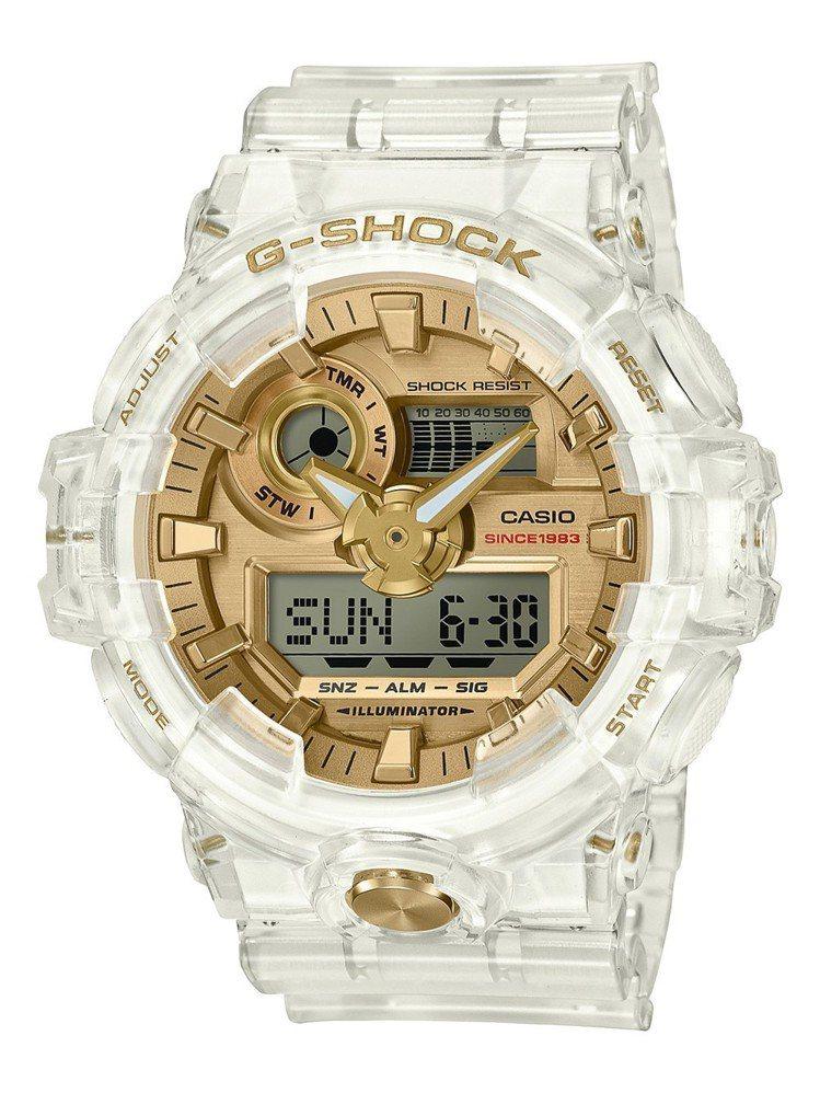 G-Shock將推出35周年限定Glacier Gold系列GA-735E表款,...