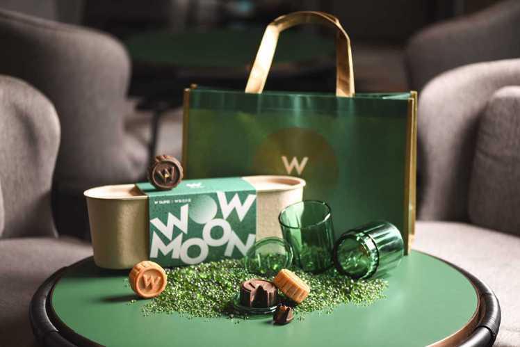 WOW MOON无限月饼礼盒,每盒4入售价980元。 图/台北W饭店提供