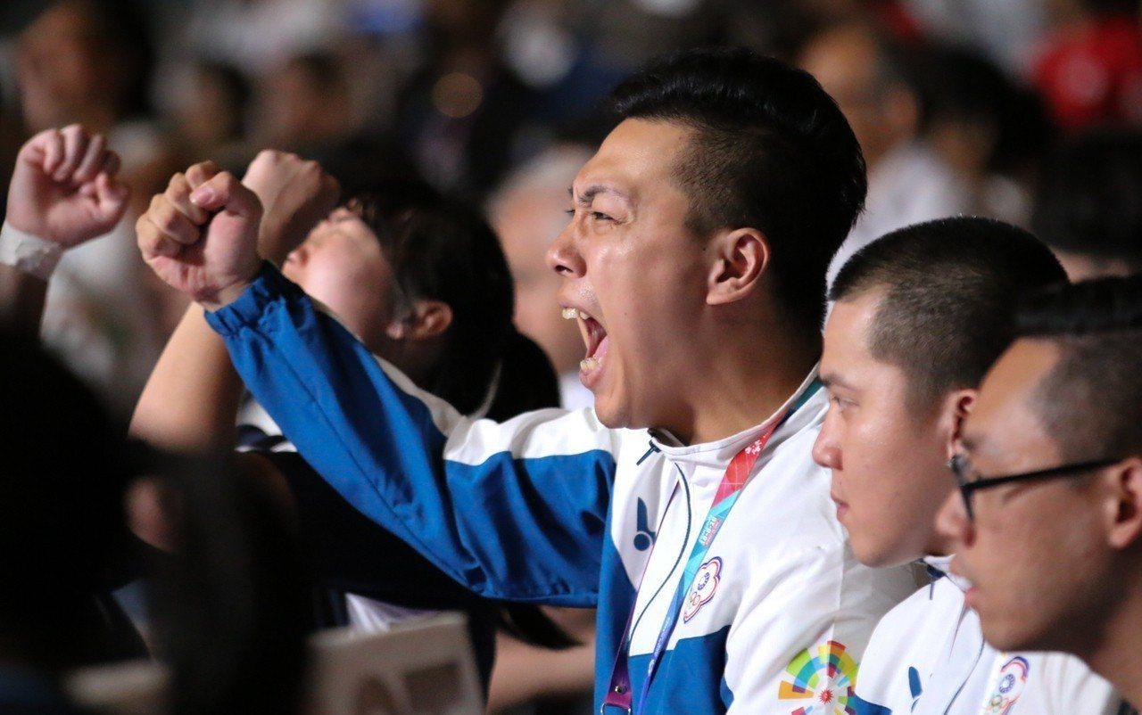 中華隊教練羅佳偉對全隊力拚印度的精神表示讚賞。台體實習記者藍妍琦/雅加達攝影