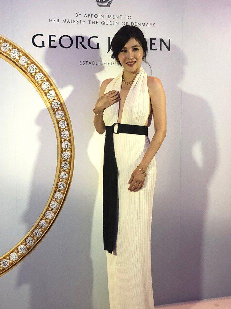 穆熙妍出席喬治傑生珠寶貴賓酒會。圖/記者孫曼攝影