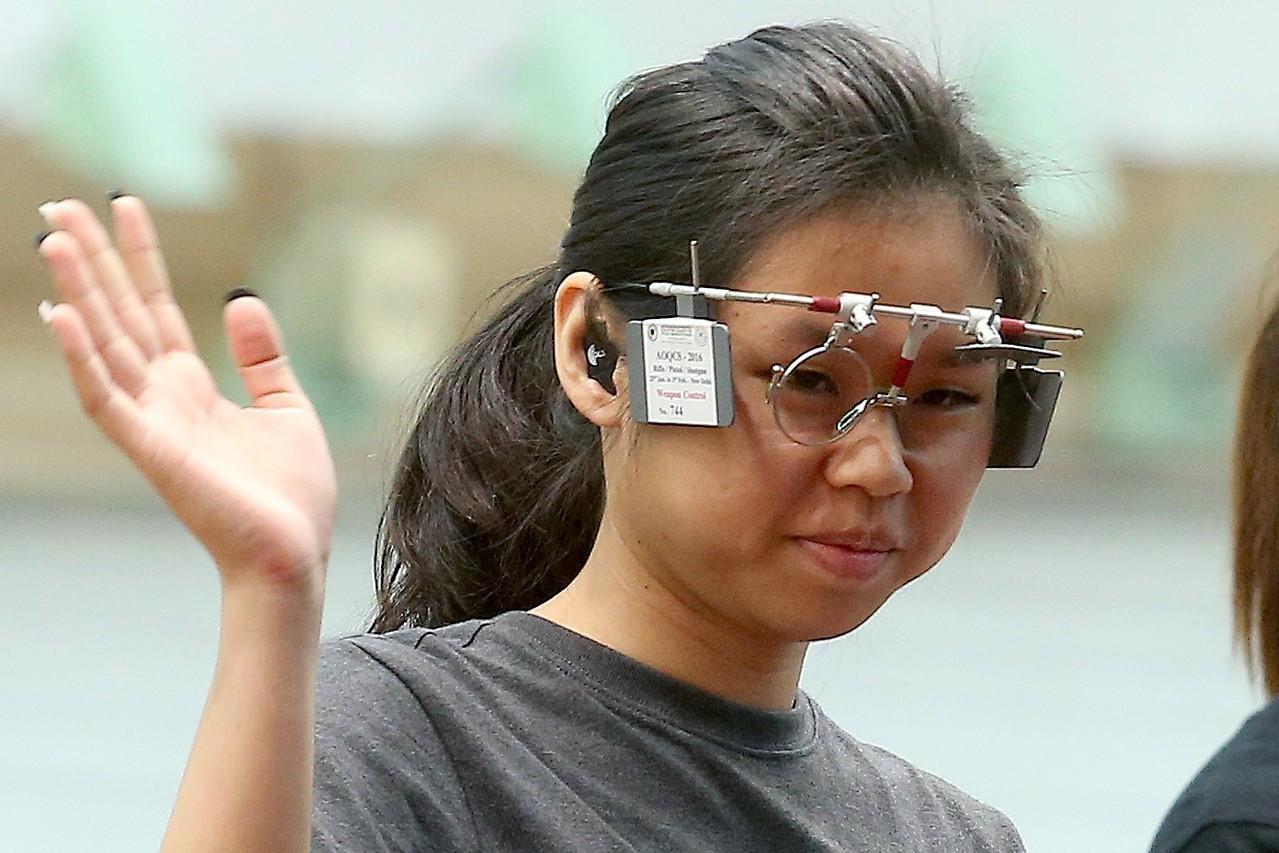 射擊女將余艾玟以571分排名第5晉級女子10公尺空氣手槍決賽。 聯合報系資料照