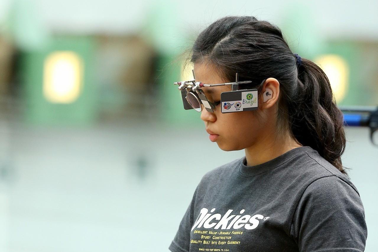 中華射擊女將余艾玟亞運女子10公尺空氣手槍決賽,以第8名坐收。 聯合報系資料照