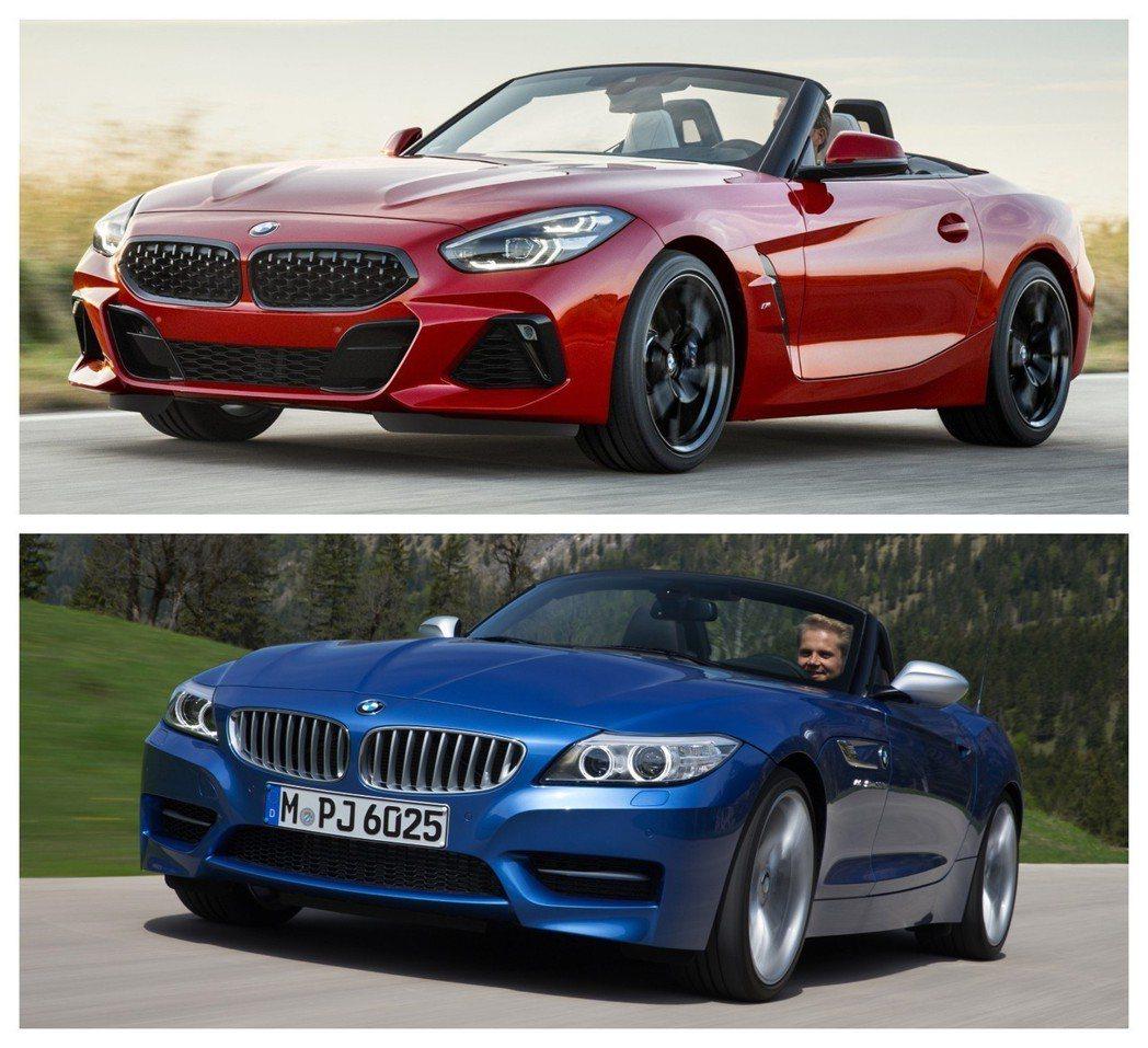 圖上為新世代BMW Z4(G29),圖下為上一代BMW Z4(E89)。 摘自B...