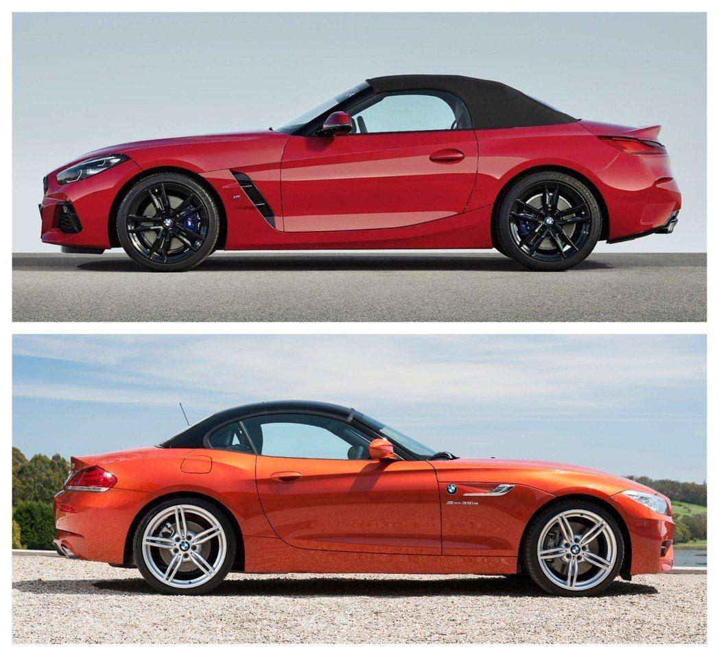 新世代BMW Z4(G29)回歸最初的軟蓬設計。 摘自BMW