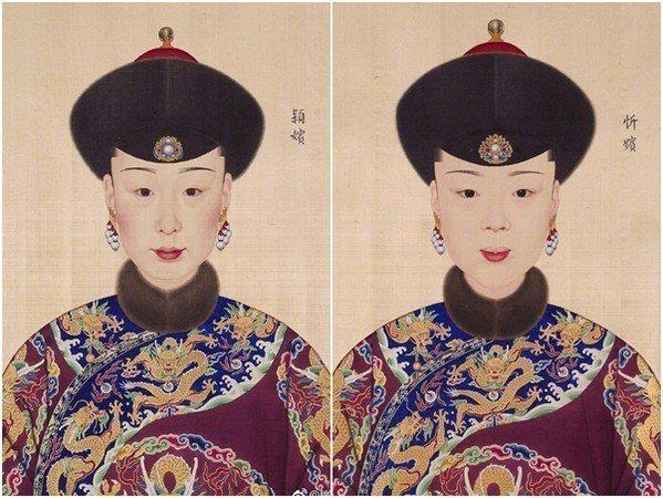 穎嬪、忻嬪。 圖片來源/翻攝自微博