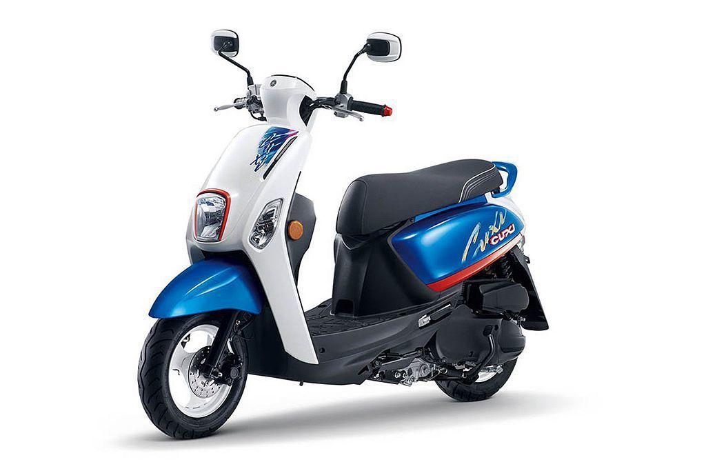 在年輕女性市場話題極高的山葉Cuxi,在6月中新推的「絢夏特仕版」搶盡眾人目光。 圖/Yamaha Cuxi提供