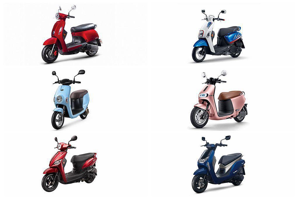 迎向暑假熱銷旺季,二輪機車不僅比酷炫、時尚,現在更緊抓女性市場。 圖/各車廠提供