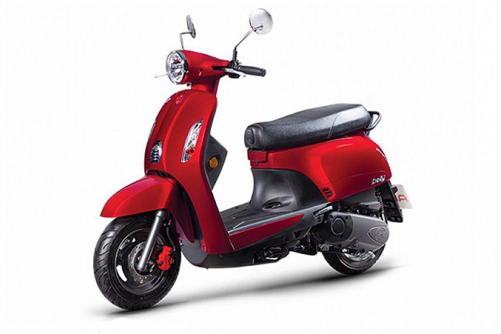 宏佳騰於6月底推出Dory115新車,並提供蜜桃粉、冰雪藍、舞動紅、閃亮白、消光...