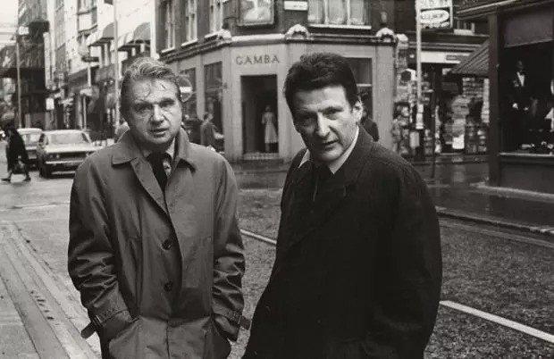 弗朗西斯·培根、盧西安·弗洛伊德,1974年 拍攝/哈里·戴蒙德(Harry ...