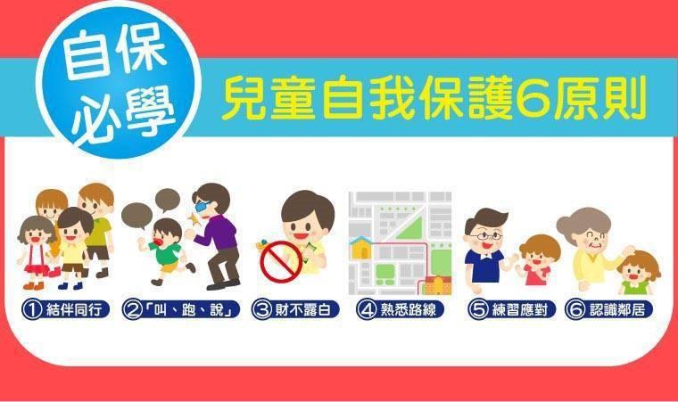 靖娟基金會提出兒童自我保護6原則。圖/取自靖娟基金會臉書