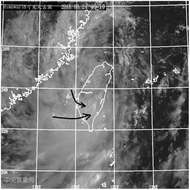 鄭明典指出,黑線附近還有成列的對流雲發展。圖/翻攝自鄭明典臉書