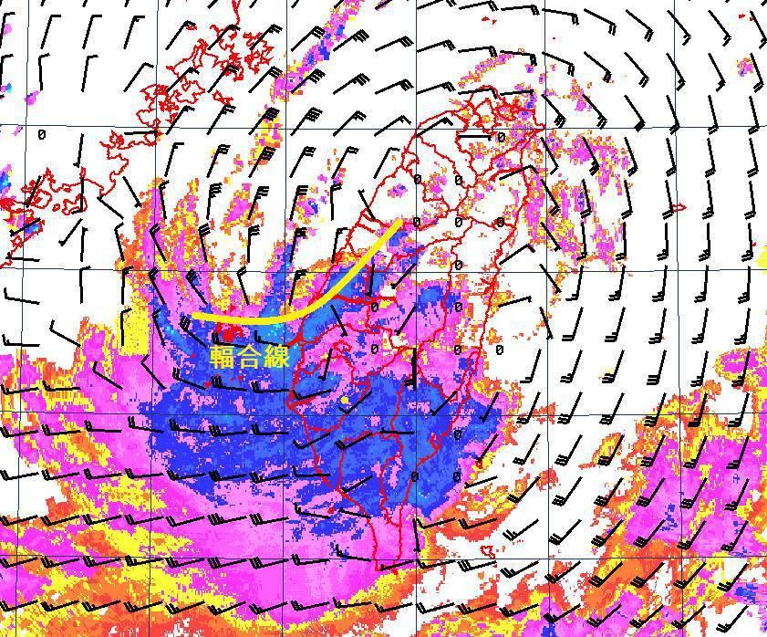 熱帶性低氣壓為南部造成嚴重災情,其所帶來的降雨更是相當罕見。圖/氣象局提供