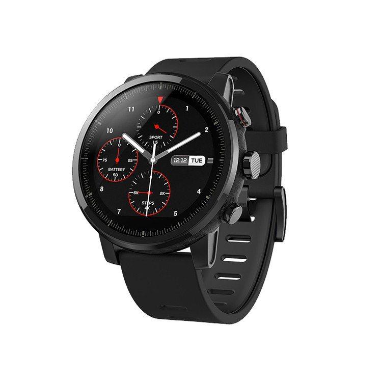 AMAZFIT智能運動手表2配備1.34吋反射式低功耗彩色顯示螢幕,防水等級達5...