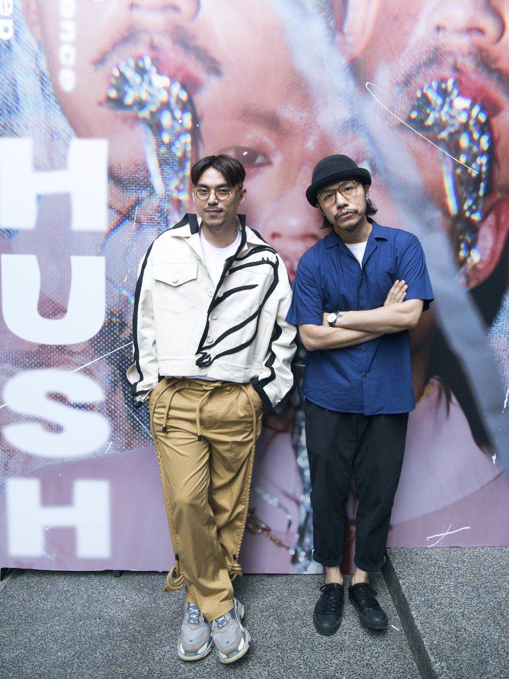 HUSH出席夢遊展,該展由好友方序中為他量身打造。圖/相知音樂提供