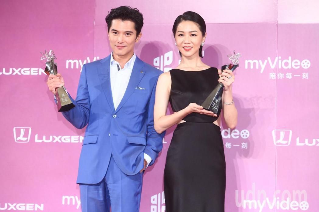 邱澤(左)與謝盈萱(右)先前就已經拿下台北電影獎影帝及影后。記者王騰毅/攝影