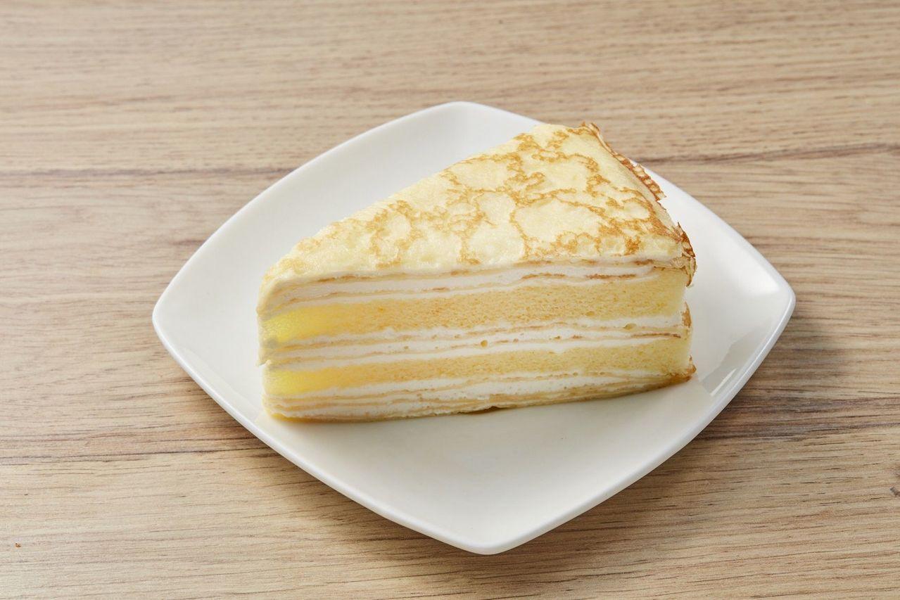 檸檬千層蛋糕,55g/片,售價45元。圖/全聯提供