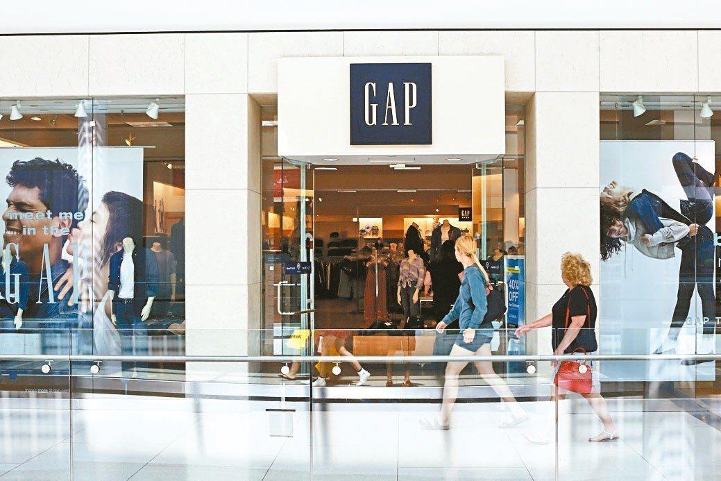 第2季財報顯示,Gap的同名品牌銷售下滑5%,是分析師所估跌幅的兩倍有餘。 美聯...