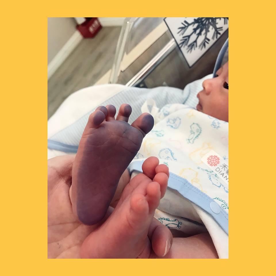 林宥嘉和丁文琪兒子正臉首曝光。圖/擷自丁文琪臉書