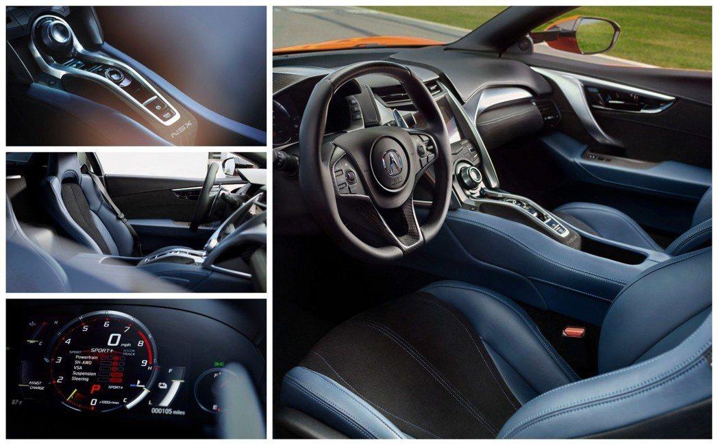 2019年式Honda/Acura NSX 內裝。 摘自Acura