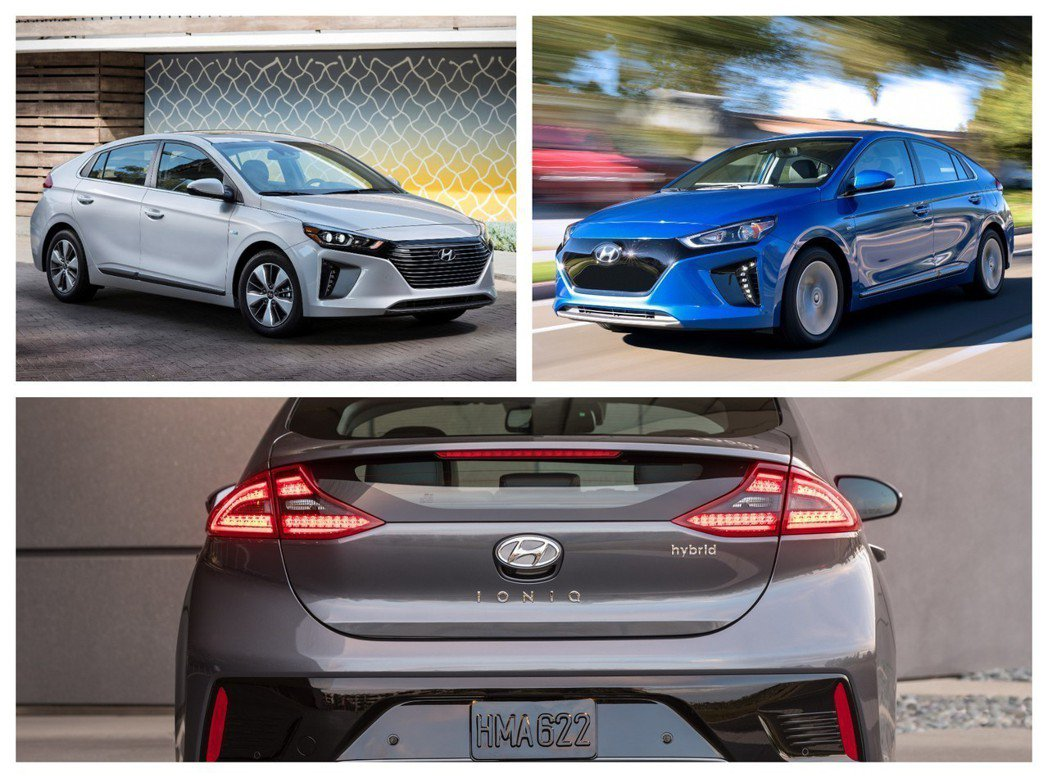Hyundai Ioniq Hybrid、Plug-in Hybrid與純電版。 摘自Hyundai