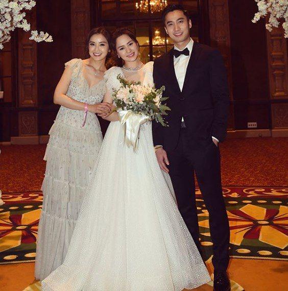 阿Sa(左),日前才參加好友阿嬌(中)與賴弘國的婚禮。圖/摘自IG