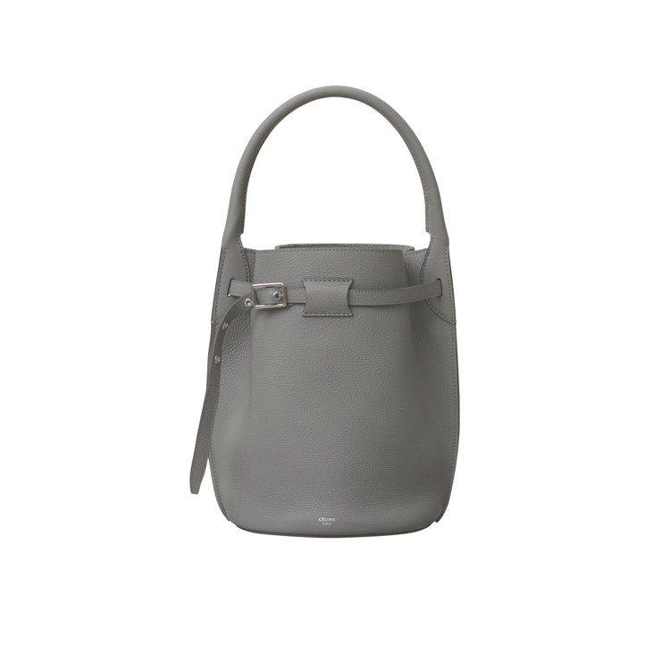 Big Bag Bucket鋅灰色小牛皮肩背提包,售價65,000元。圖/CÉL...