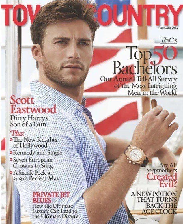 史考特伊斯威特的雜誌封面曾引發無數女性熱烈討論。圖/摘自TOWN & COUNT...