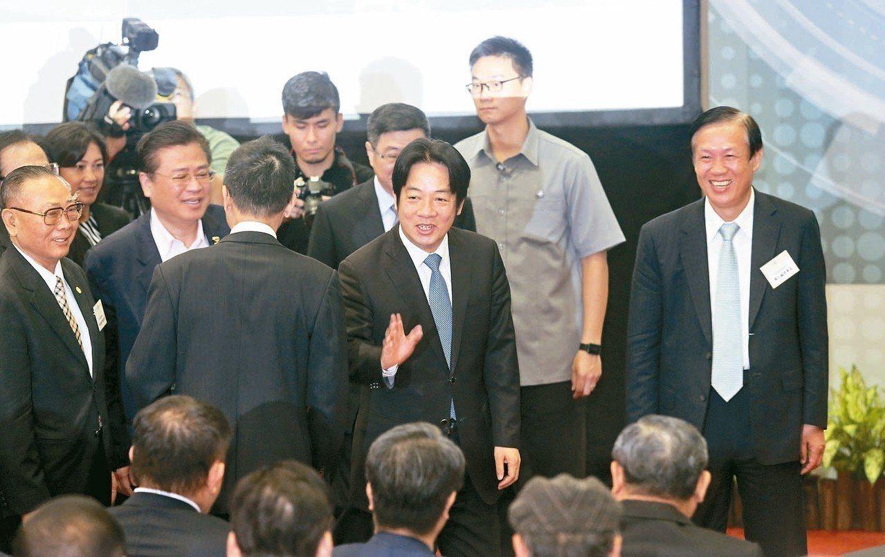 行政院長賴清德23日與商總座談。 圖/聯合報系資料照片