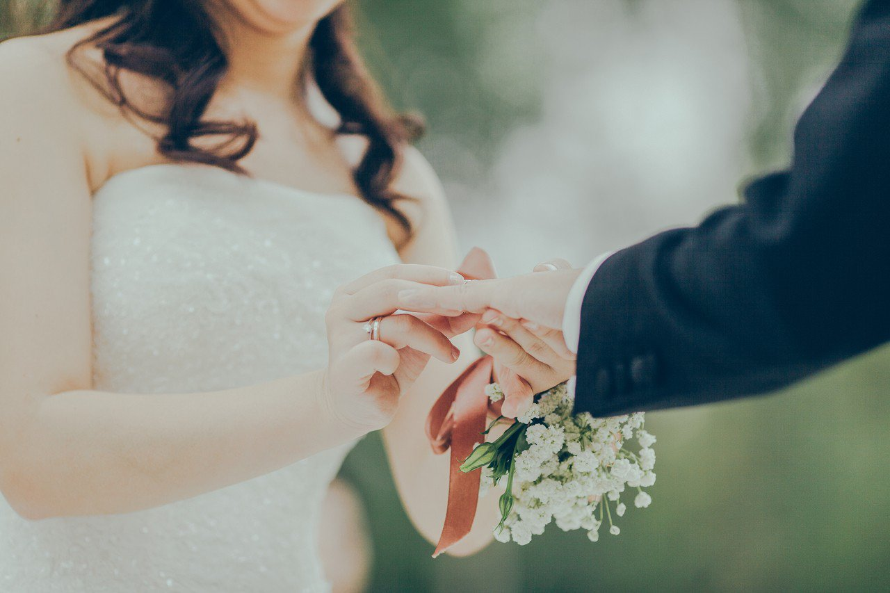 結婚示意圖。圖片來源/StockSnap.io