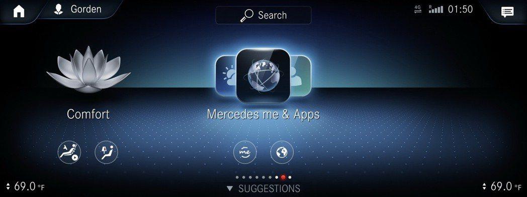 MBUX結合Mercedes me connect 互聯將可提供更完整更多元的聯網功能。 圖/Mecedes-Benz提供