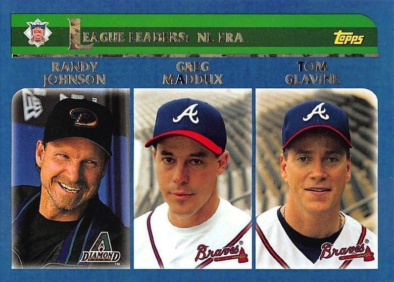 強森(左)、葛拉文(右)、麥達克斯(中)是近3位拿下300勝的投手,離目前最近的...