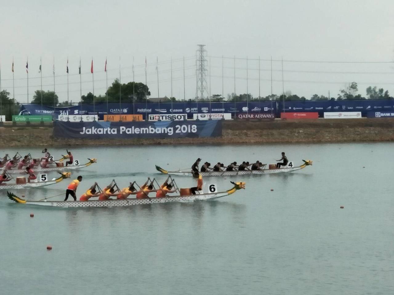中華男子輕艇龍舟隊500公尺直道競賽奪金。圖/中華奧會提供