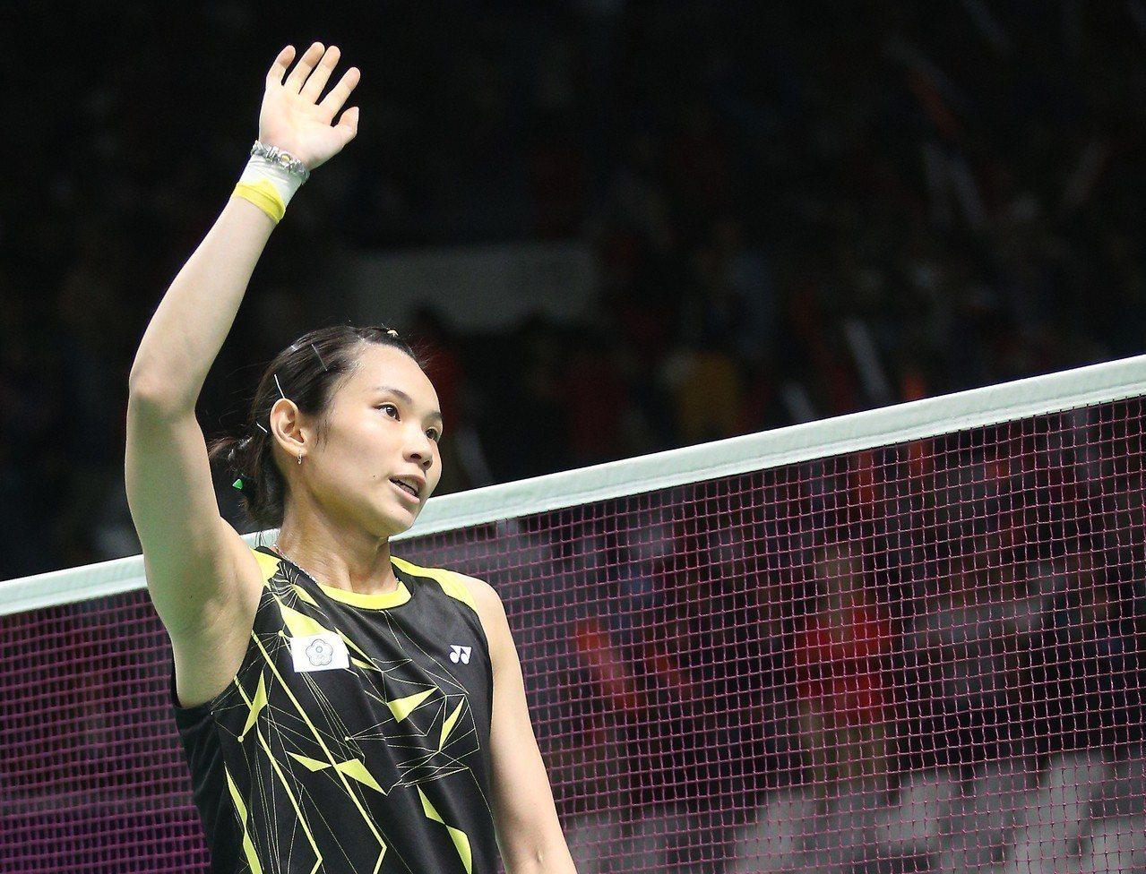戴資穎女單8強賽只花33分鐘就勝出。特派記者陳正興/雅加達攝影