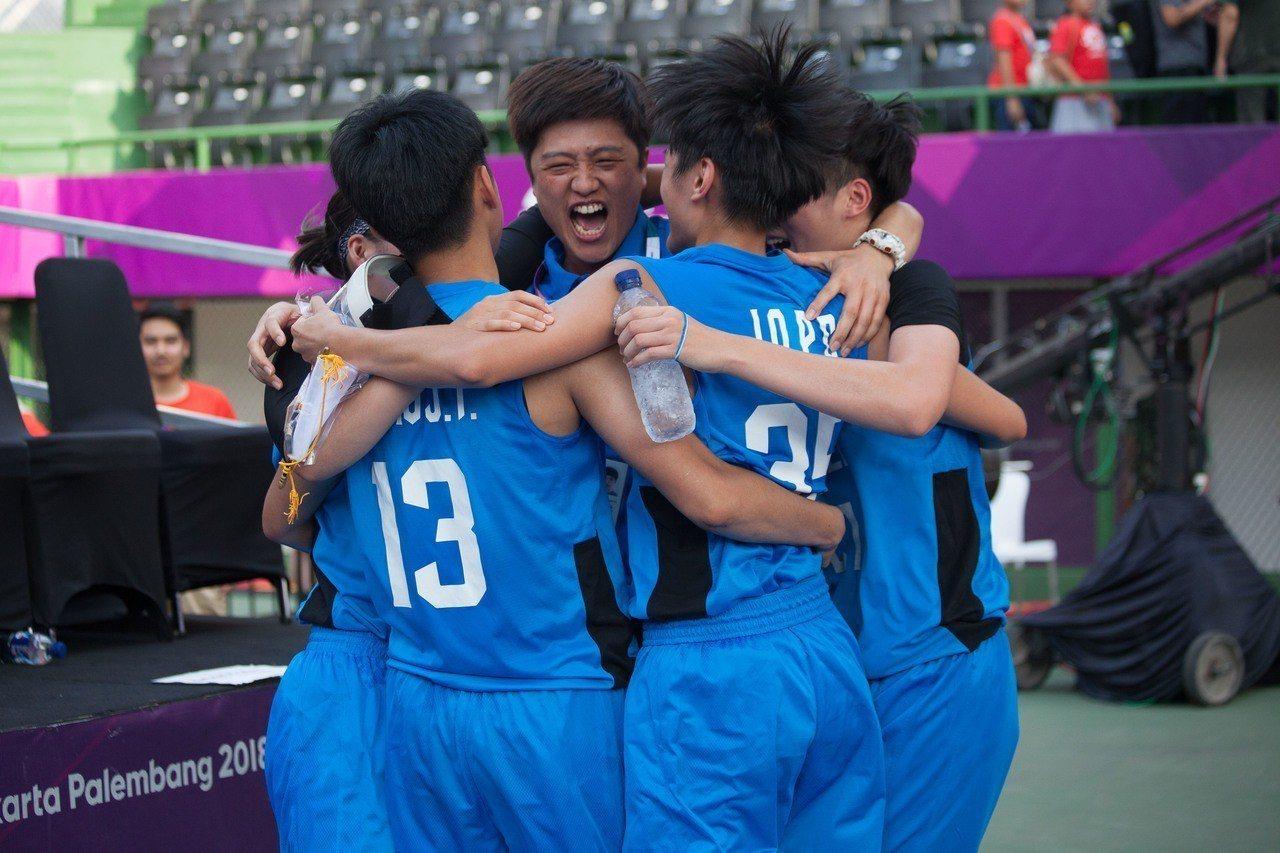亞運三對三女籃,中華隊力退南韓隊晉級四強。台體實習記者賴琦昀 / 雅加達攝影