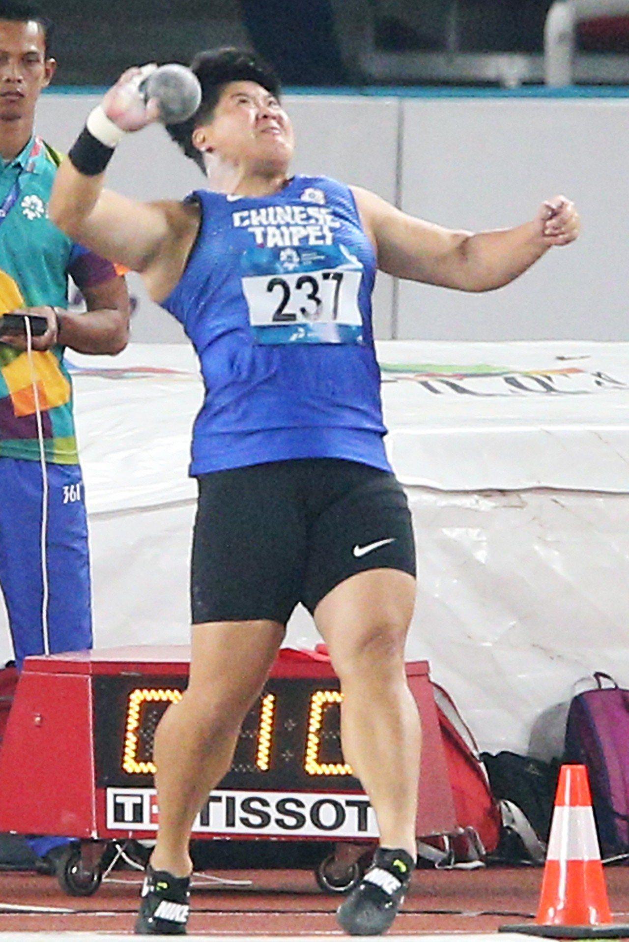 林家瑩連3屆亞運都拿第4名。特派記者陳正興/雅加達攝影