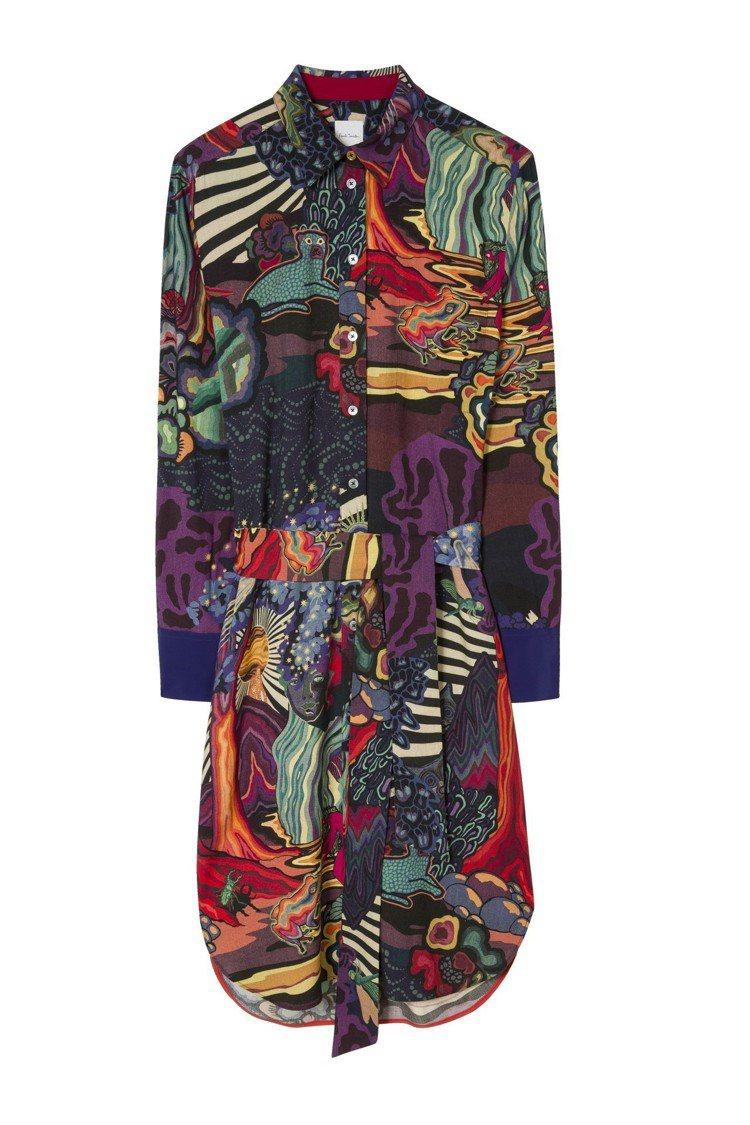 女裝襯衫洋裝,29,800元。圖/Paul Smith提供