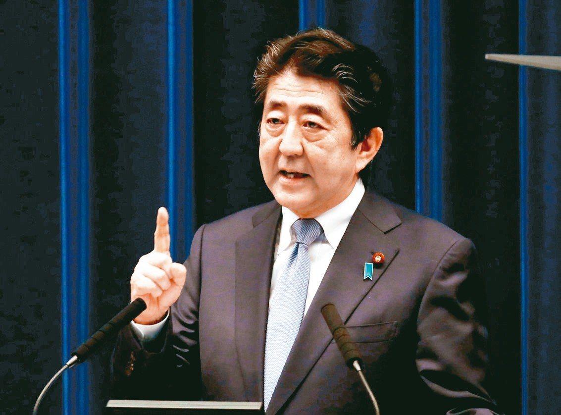 日本首相安倍晉三。 路透