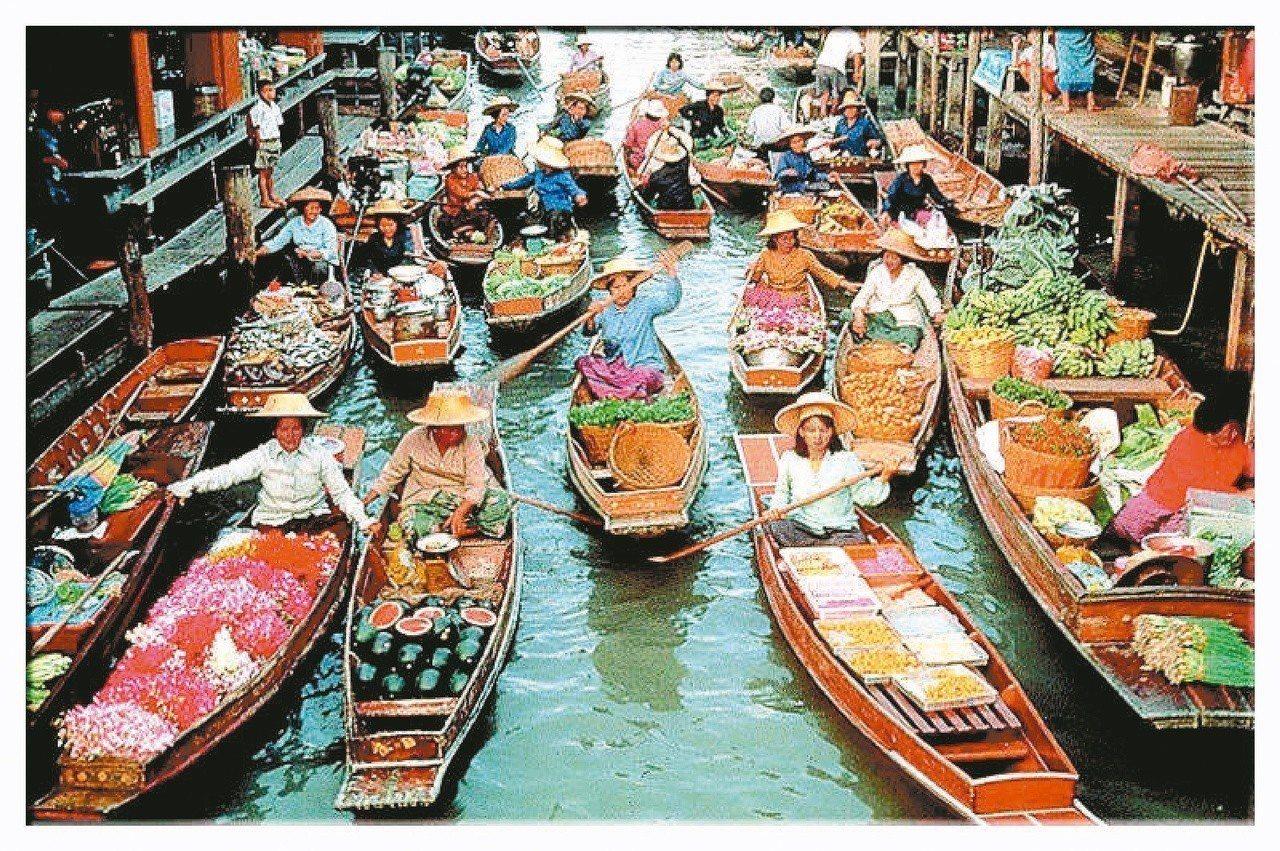 泰國水上市場。圖/聯合報系資料照