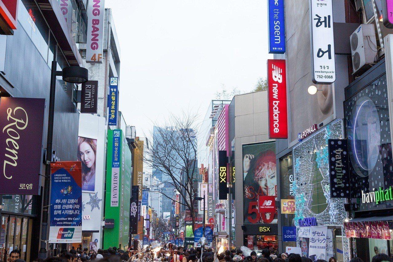 韓國明洞是熱門旅遊景點。圖/雄獅旅遊提供