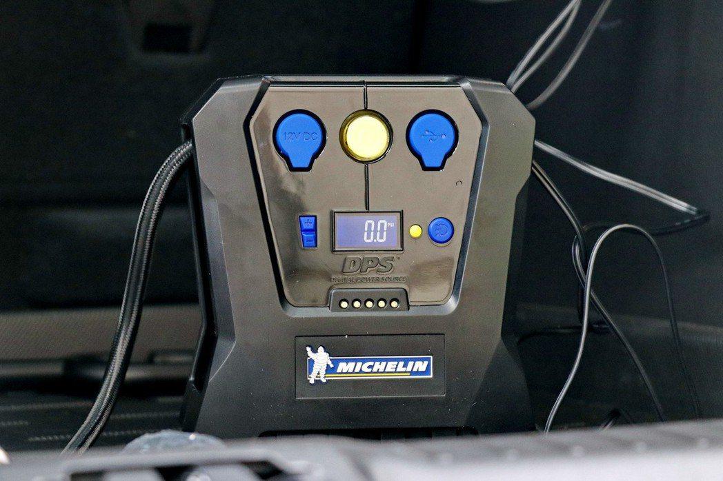 MICHELIN米其林智能胎壓設定高速自動打氣機(12266)。 記者陳威任/攝...