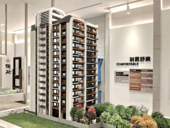 「隱苑」所在的南萬華房價在北市相對處於低檔,此區新案不多,近500坪基地又有制震...