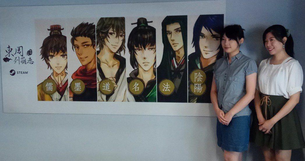 《東周列萌志》製作人小望(左)、央央(右)