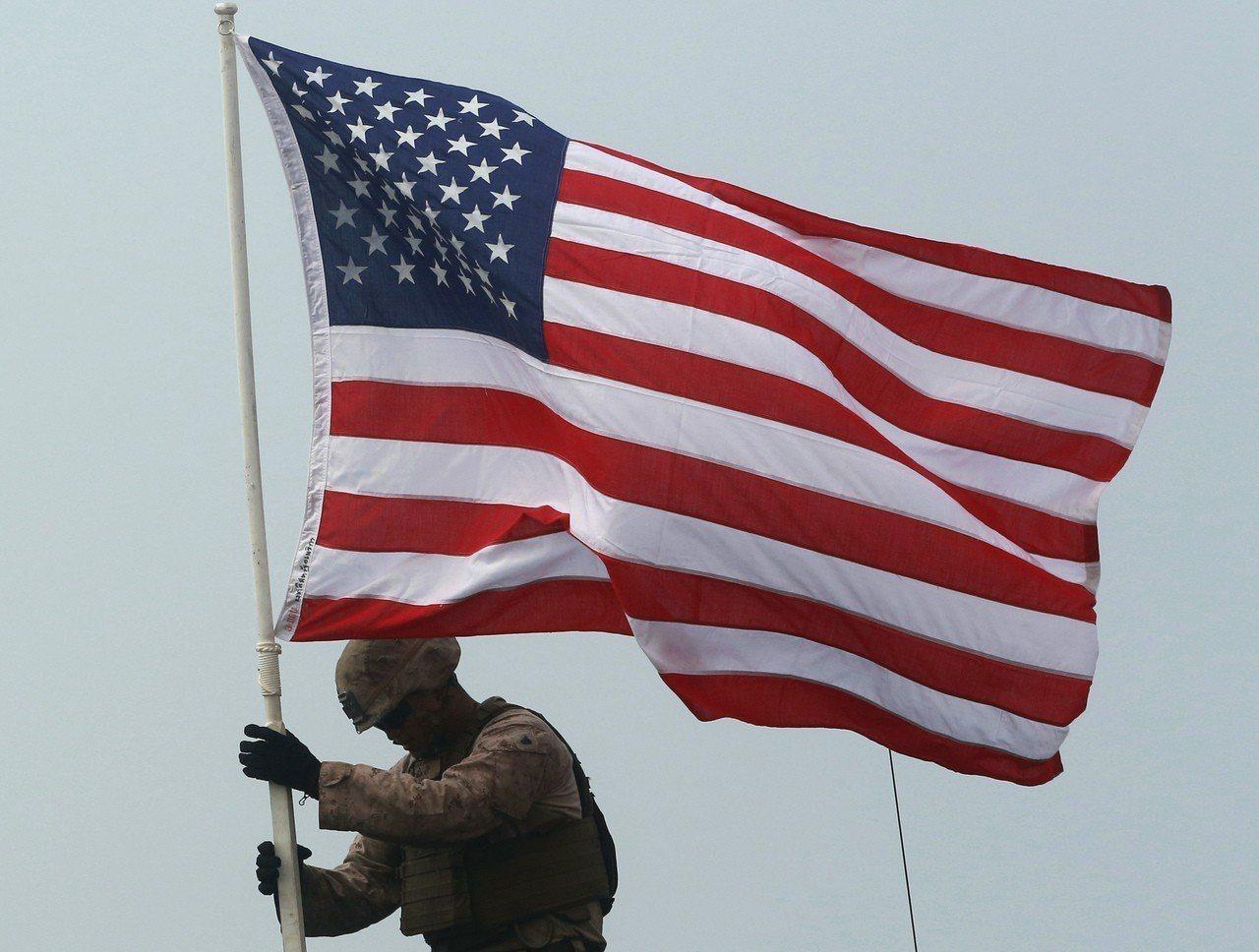 美國國旗。美聯社