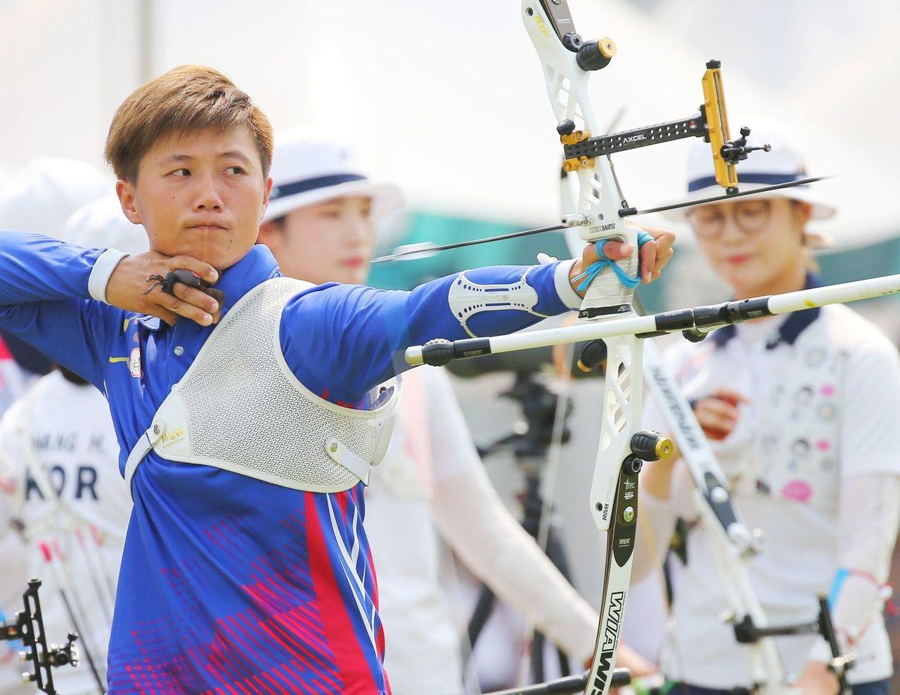 雷千瑩女團金牌戰奪銀,明天還有個人賽銅牌戰。特派記者陳正興/雅加達攝影